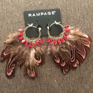 Rampage Feather Earrings